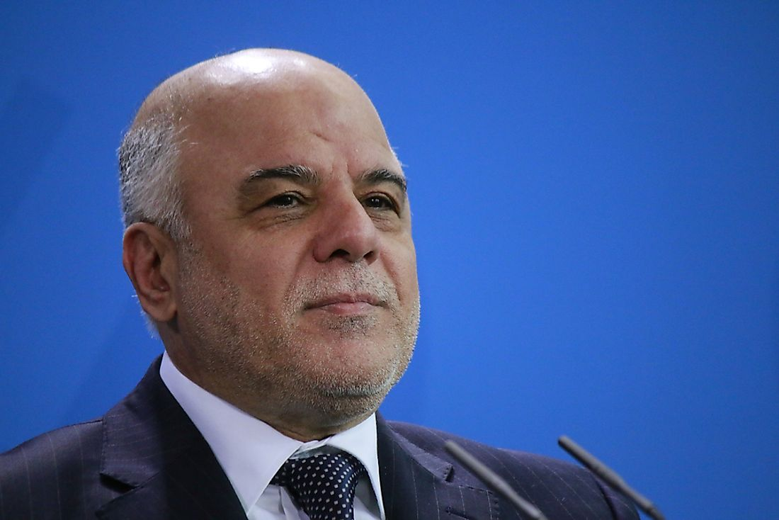 Haider al-Abadi became the Iraqi Prime Minister in 2014. Editorial credit: 360b / Shutterstock.com.
