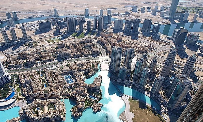 Dubai, a global city, is the biggest city in the United Arab Emirates.
