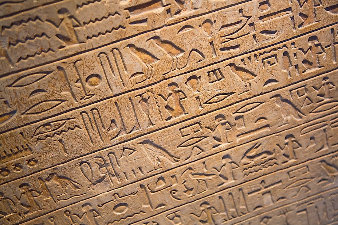 Egyptian hieroglyphics is one of the earliest writing systems in the world.