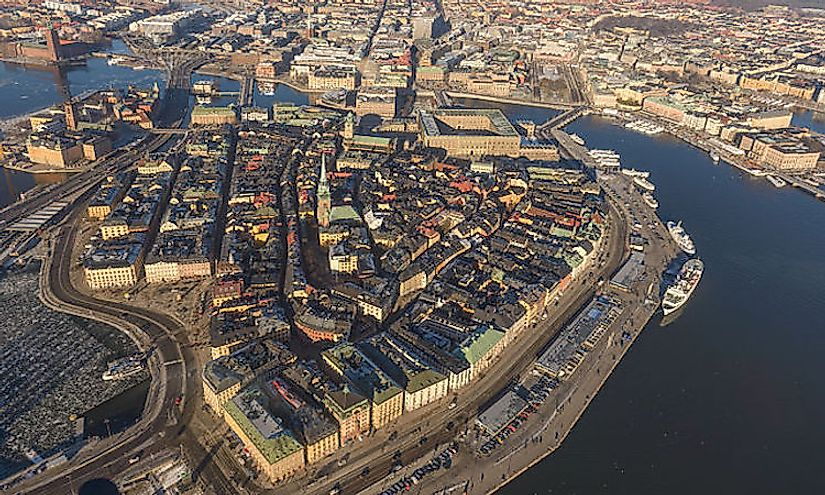 The Old Town of Stockholm in Sweden.