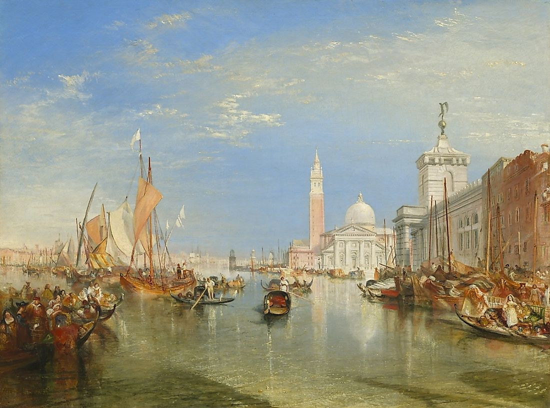 The Dogana and San Giorgio Maggiore by Joseph Mallord William Turner.
