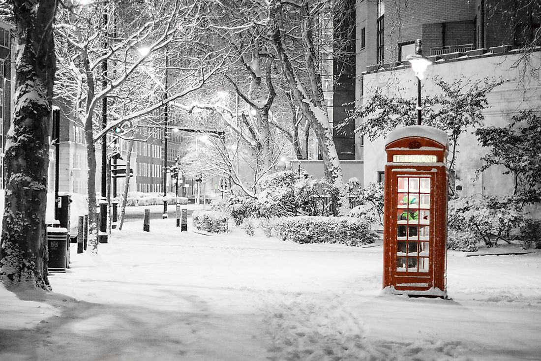 A rare snowfall seen in London.