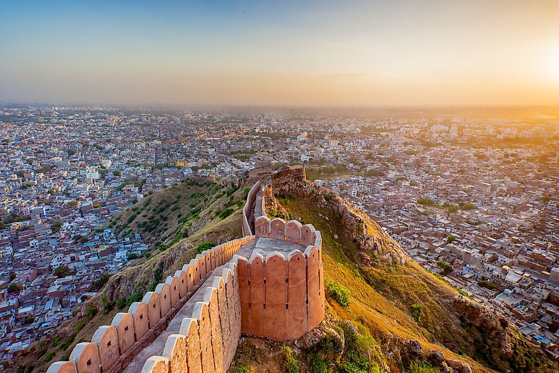 Jaipur is part of the Golden Triangle of India.