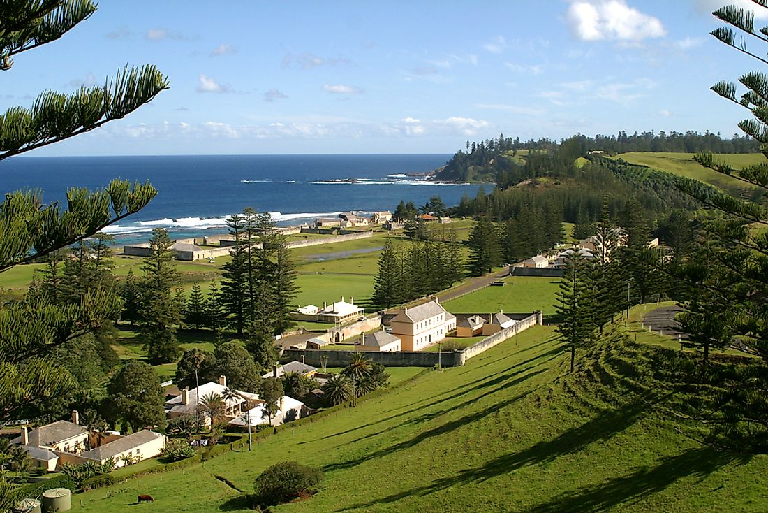Heritage buildings on Norfolk Island.