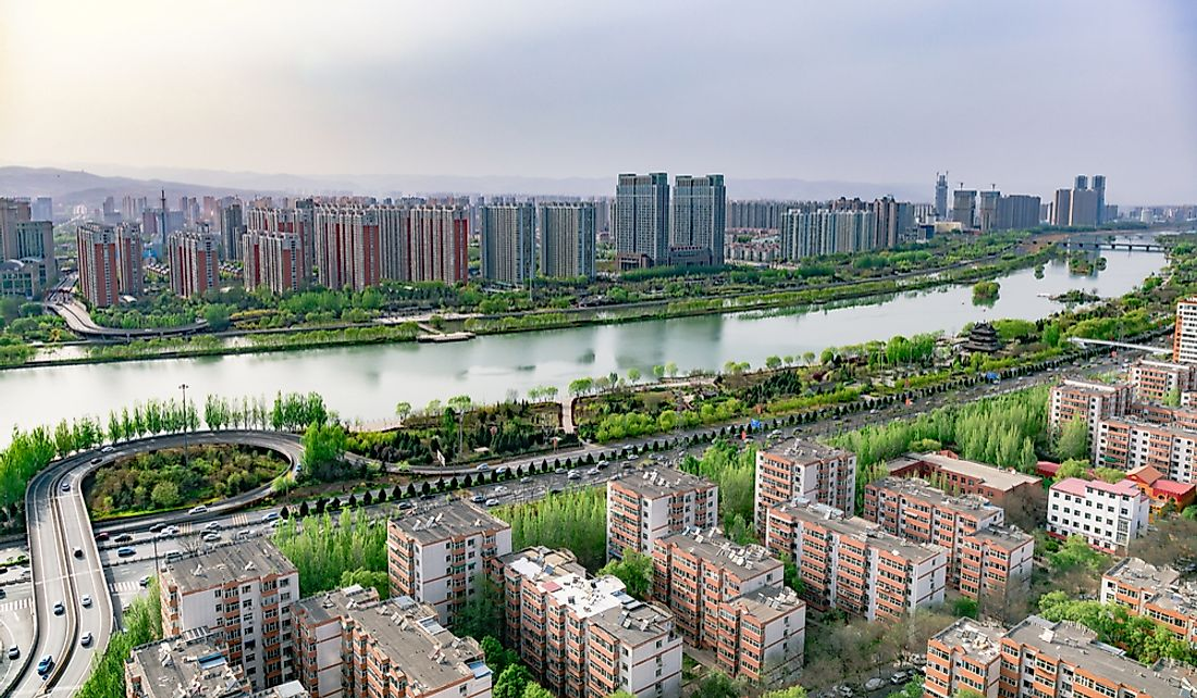 Taiyuan is built on the banks of the Fen River.