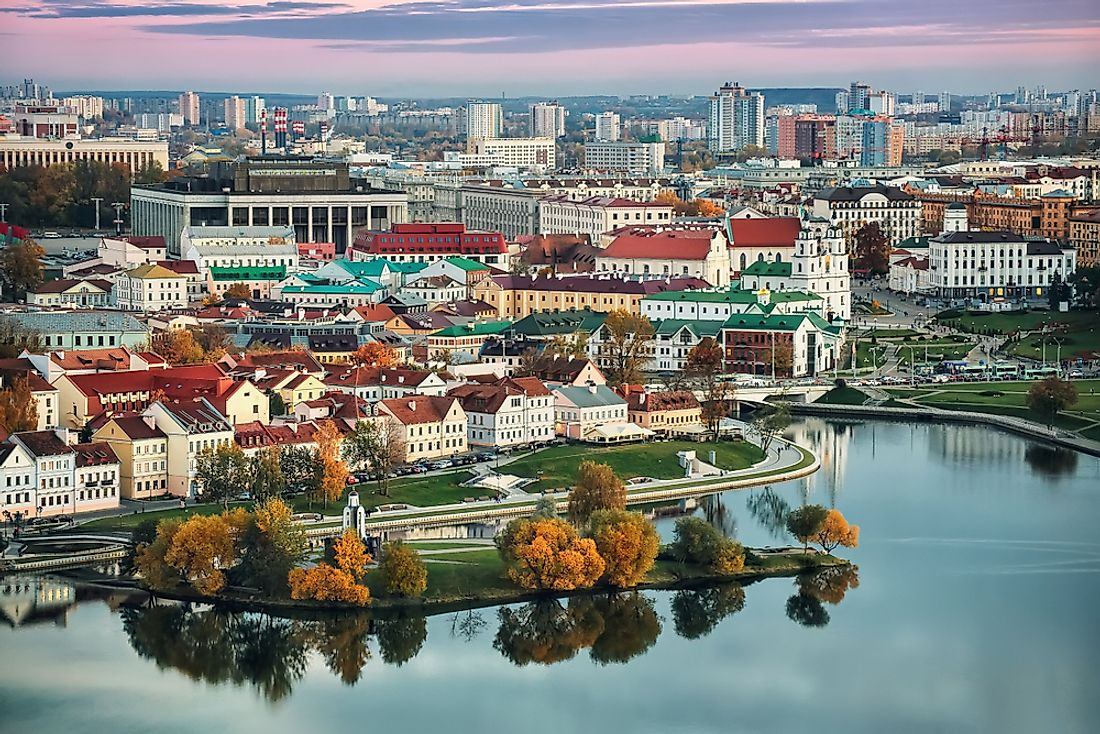 A view of Minsk, the capital city of Belarus.