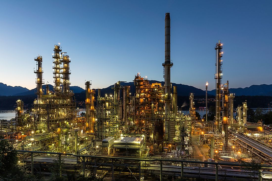 An oil refinery in British Columbia, Canada.