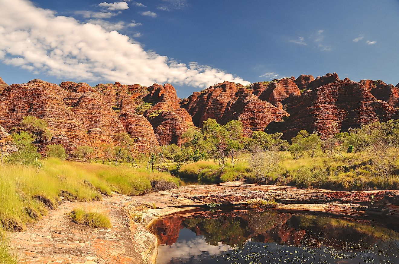 Bee Hive formations at the Bungle Bungles in Western Australia. Image credit: John Crux/Shutterstock.com