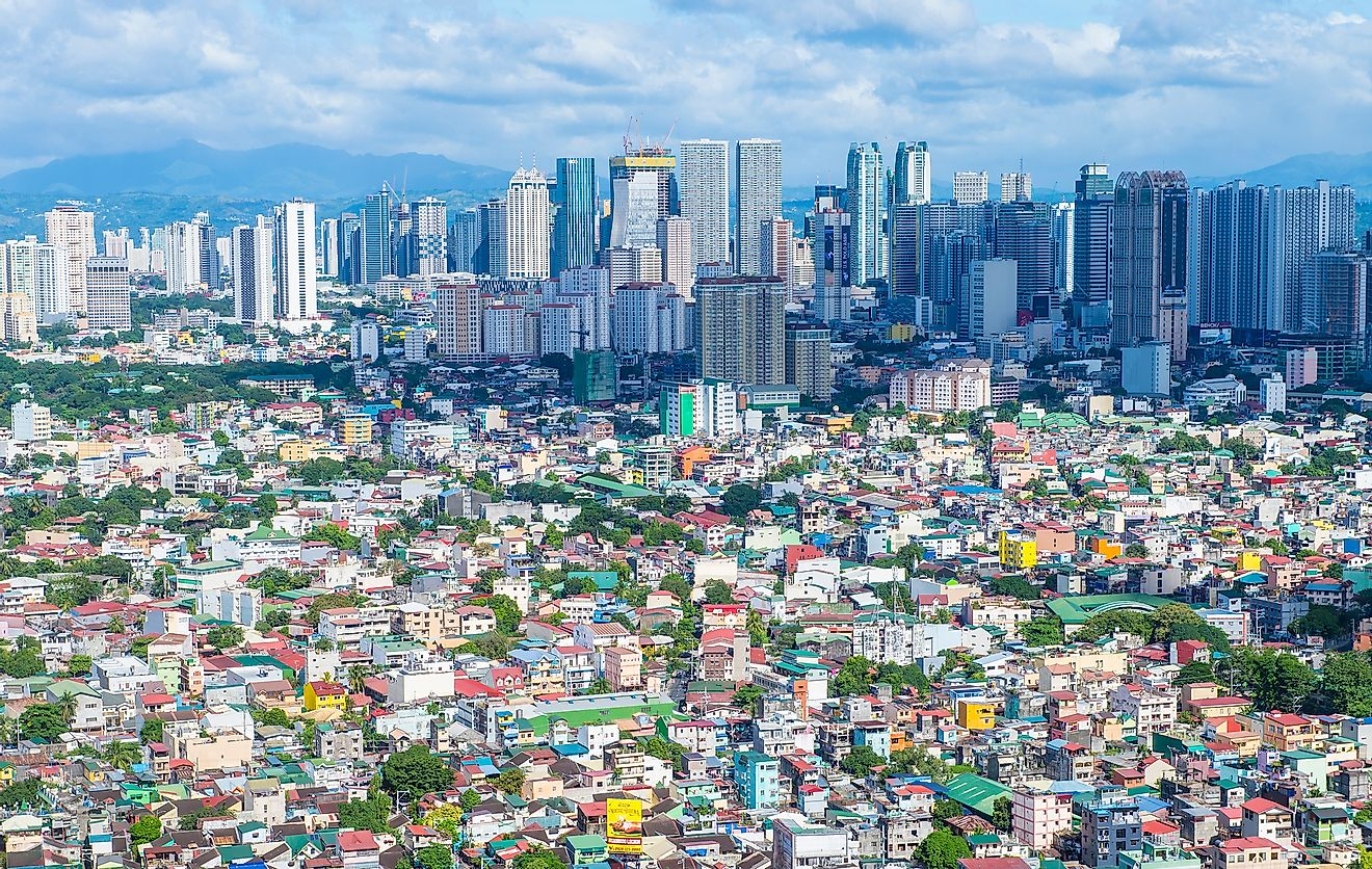 The skyline of Manila, the second most populated city in the Philippines.