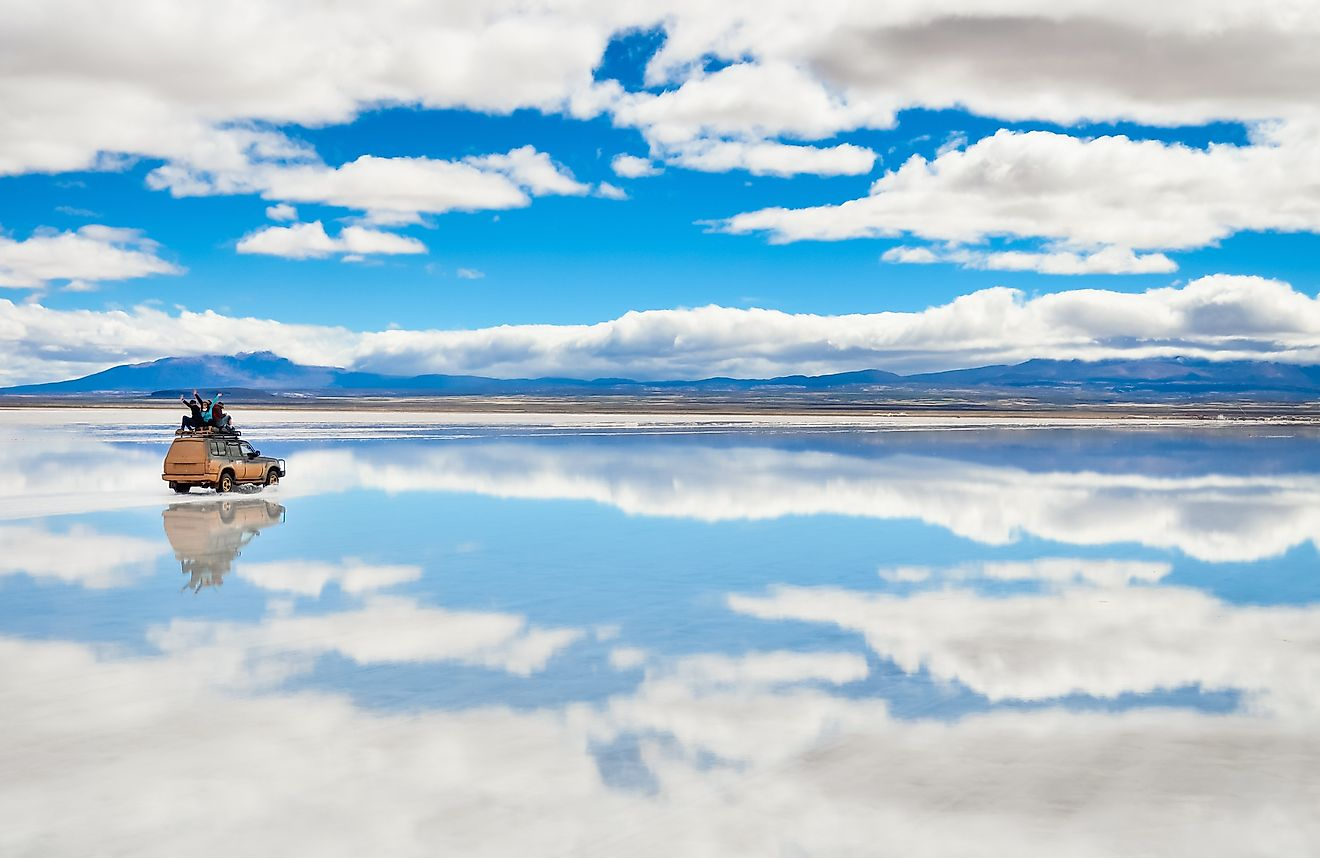 The world's largest salt flat, Salar de Uyuni in Bolivia.