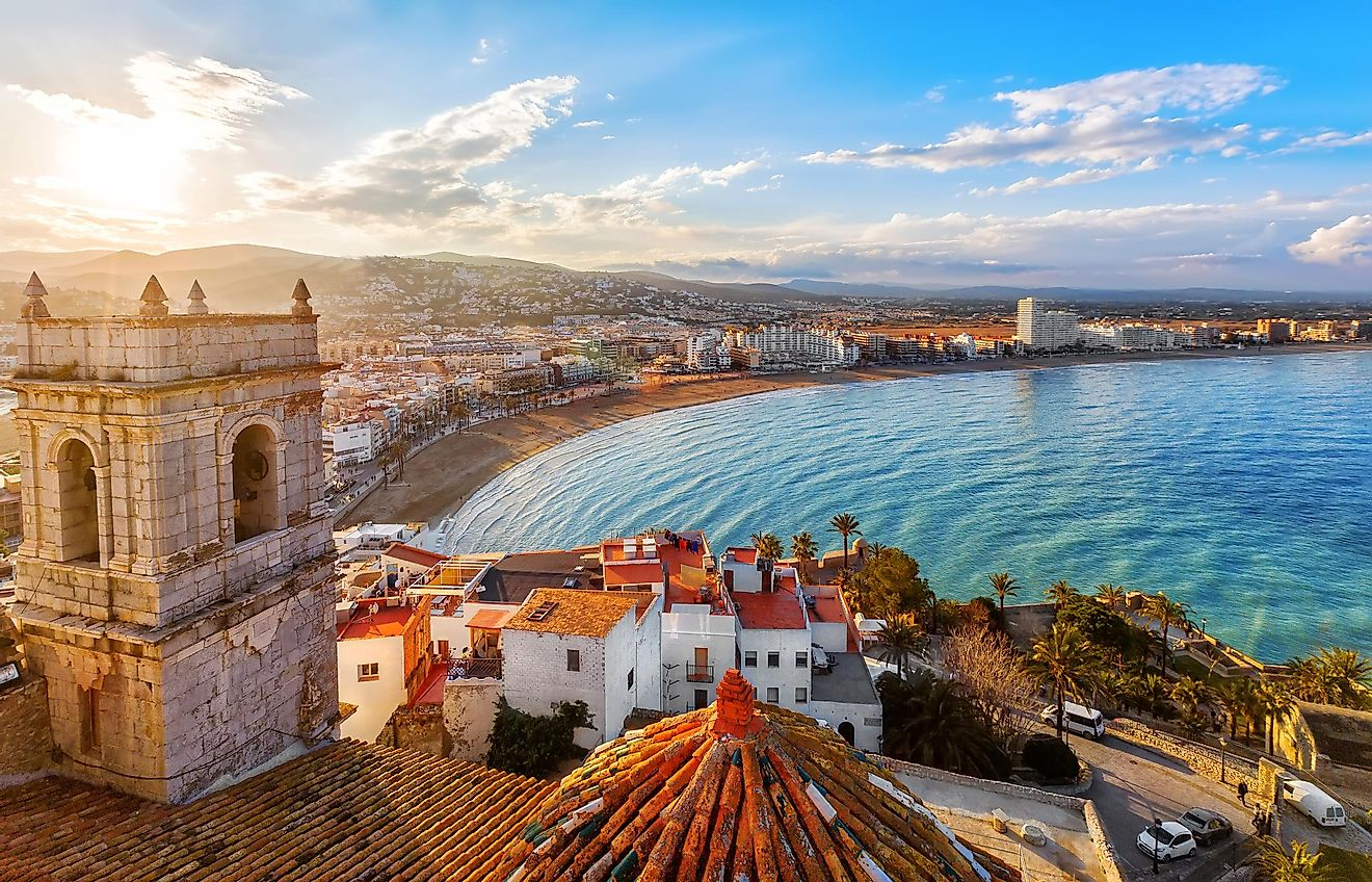 View on Peniscola from the top of Pope Luna's Castle , Valencia, Spain. Image credit: May_Lana/Shutterstock.com