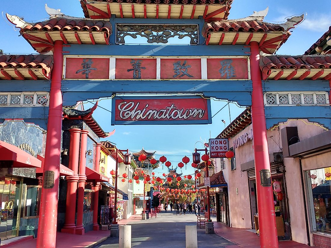 The largest mass lynching in the US took place in Los Angeles' old Chinatown, since torn down. Editorial credit: Alex Millauer / Shutterstock.com