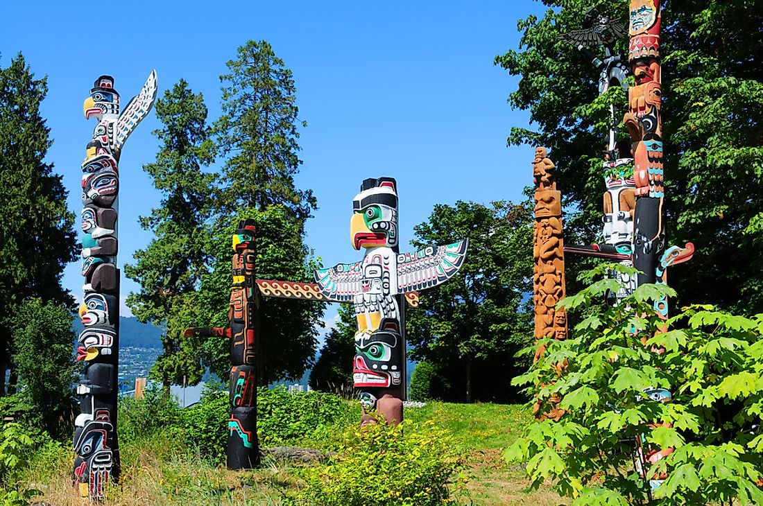 Totems in Stanley Park, Vancouver.