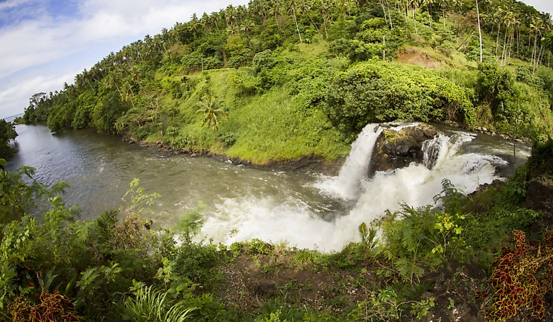 Water is one of Samoa's important natural resources.
