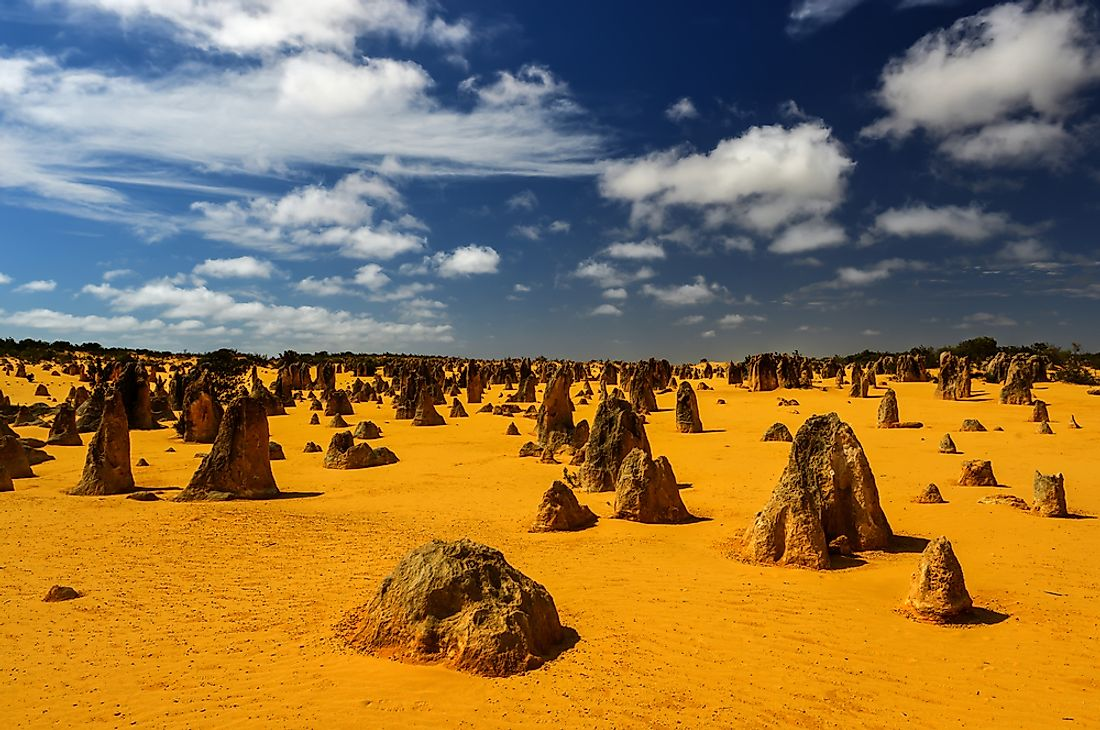 The Pinnacles is known for the stunning limestone formations that dot the desert.