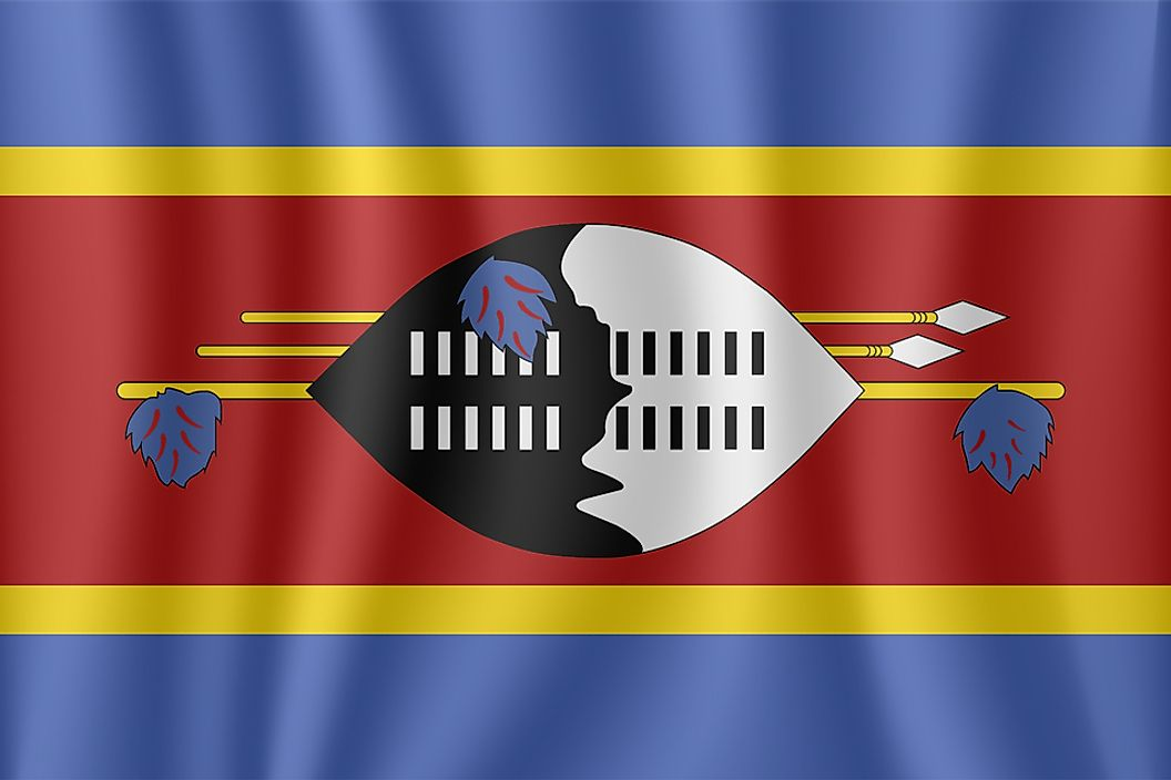 The flag of Swaziland.