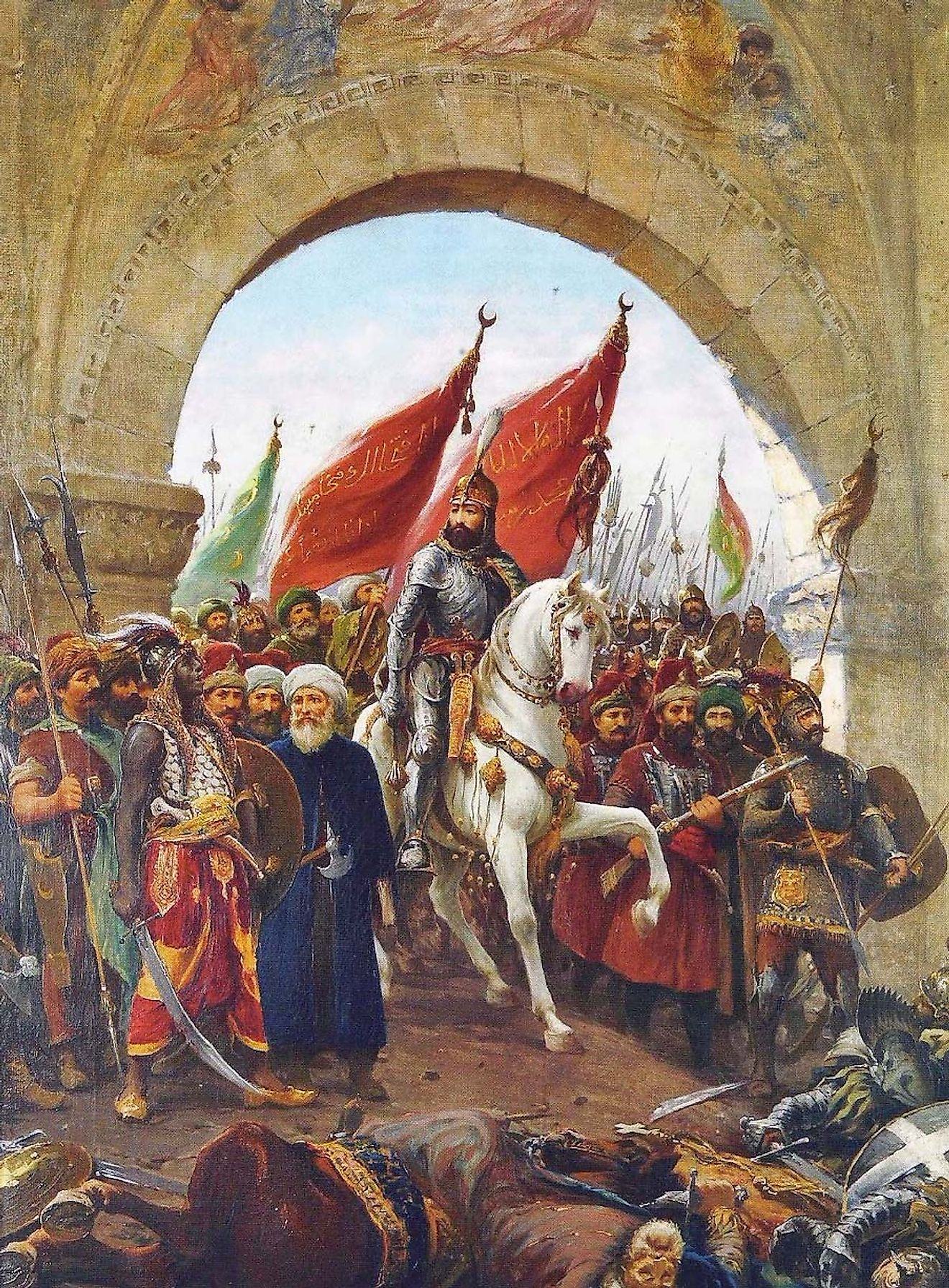 Conquest of Constantinople by Sultan Mehmed the Conqueror in 1453.