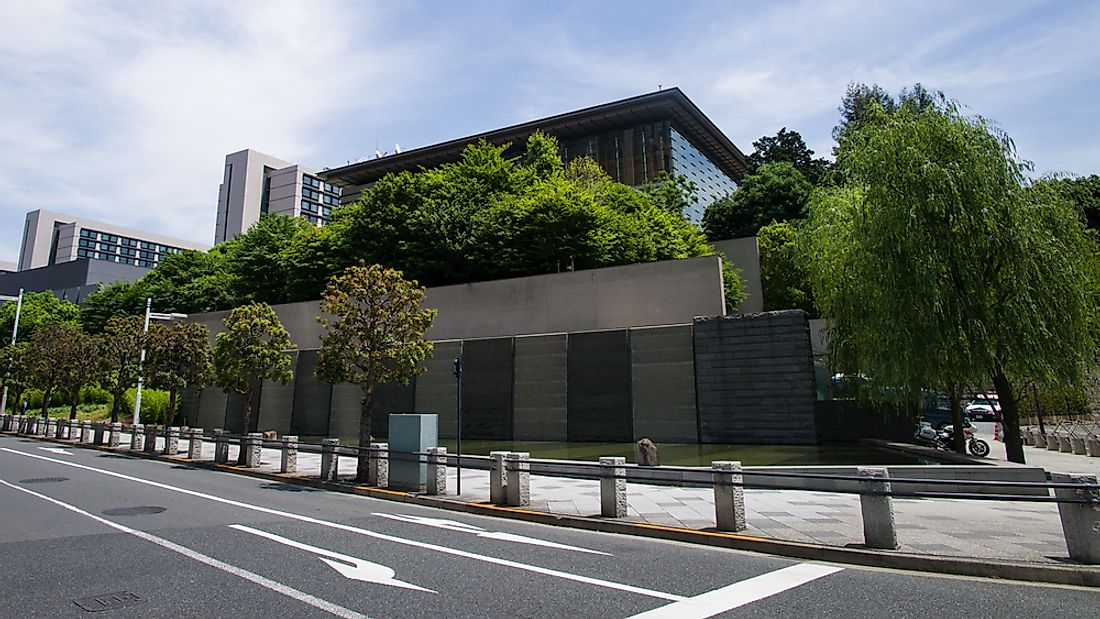 The Prime Minister's Official Residence in Tokyo. Editorial credit: gary yim / Shutterstock.com.
