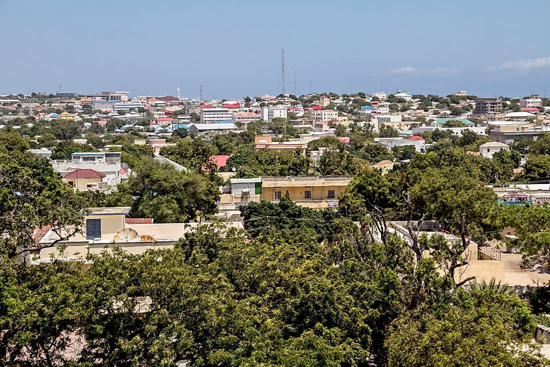 Mogadishu​ is Somalia's biggest city. Editorial credit: M DOGAN / Shutterstock.com.