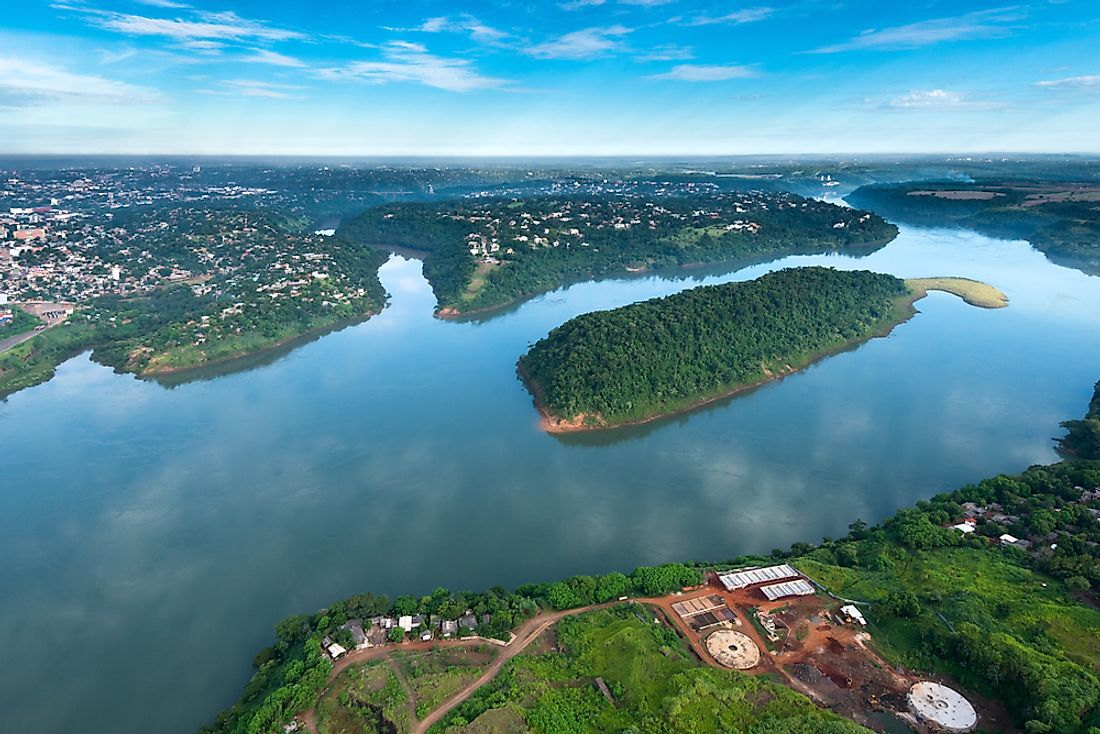 The Parana River on the border of Paraguay and Brazil.