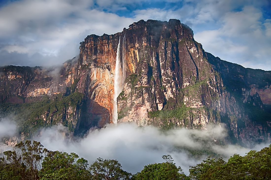 With its waters plunging nearly 1 kilometer off of Mount Auyantepui, Venezuala's Angel Falls is widely considered to be the highest waterfall in the world.