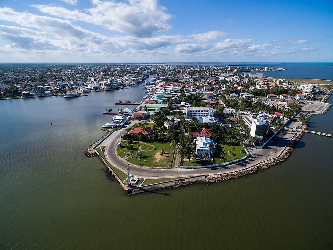 Belize City, the biggest city in Belize.