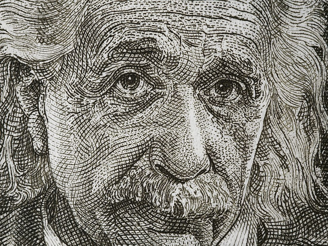 Albert Einstein on an Israeli banknote. Editorial credit: vkilikov / Shutterstock.com.