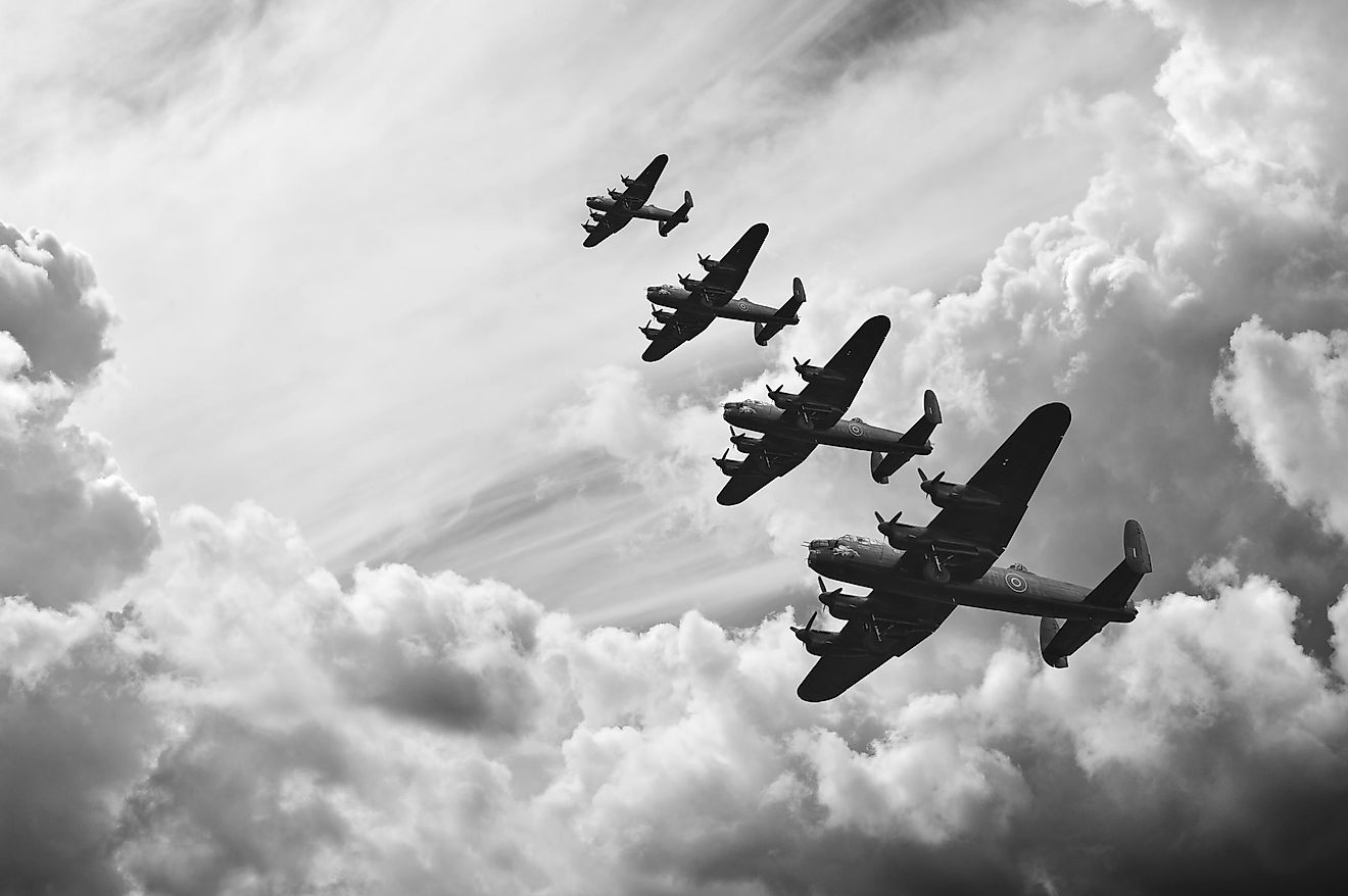 Lancaster bombers from Battle of Britain in World War II.