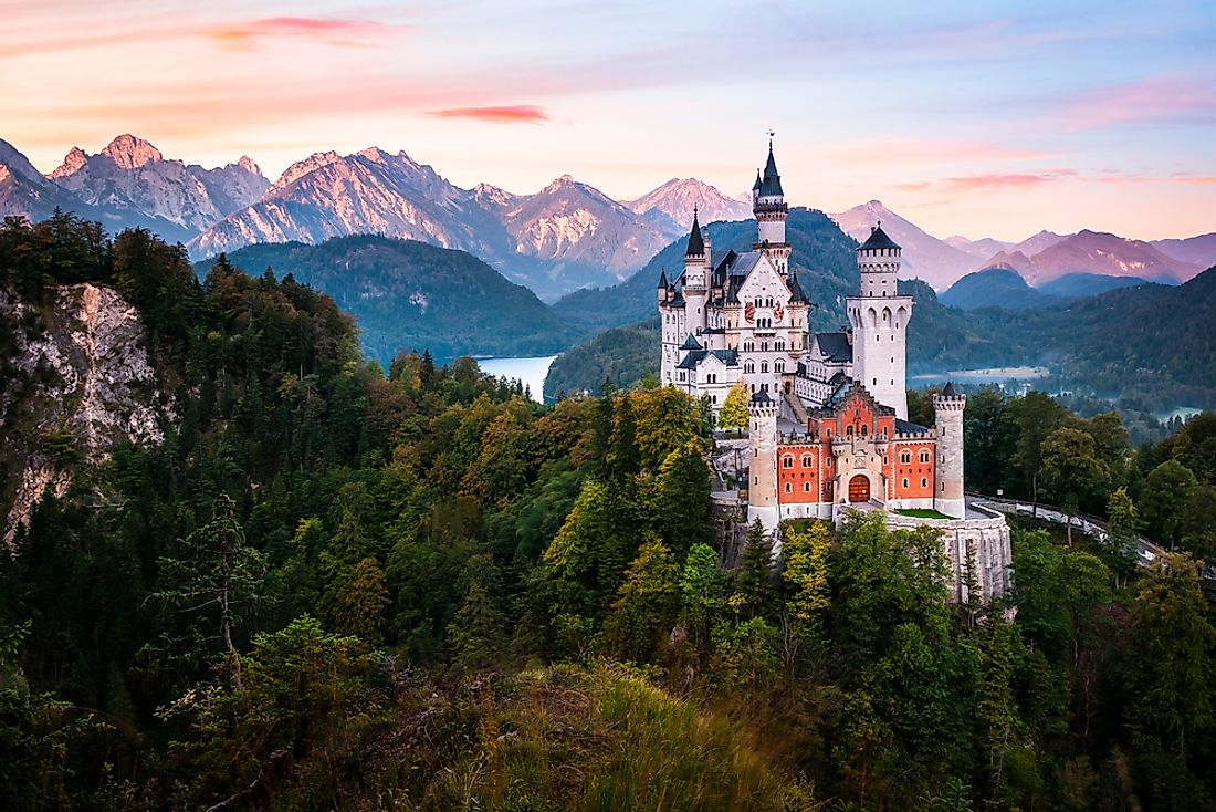High in the Bavarian Alps in Germany lies the fairytale-esque Neuschwanstein castle.