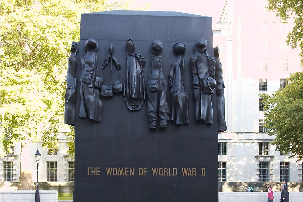 Monument to the Women of World War II in London, England. Editorial credit: The Picture Studio / Shutterstock.com