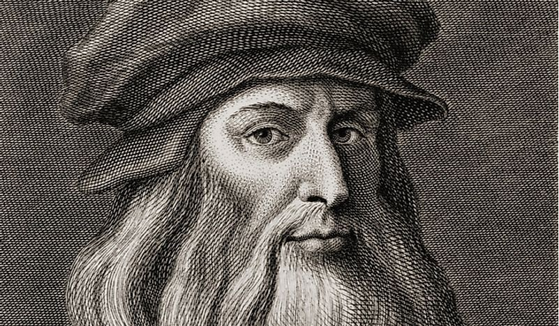 An illustration of Leonardo da Vinci.