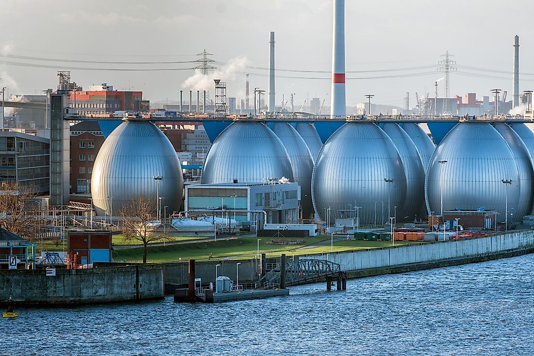 A desalination plant in Hamburg, Germany.
