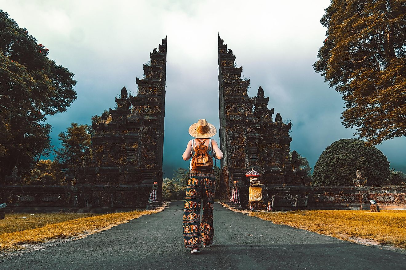 A traveler in Indonesia.