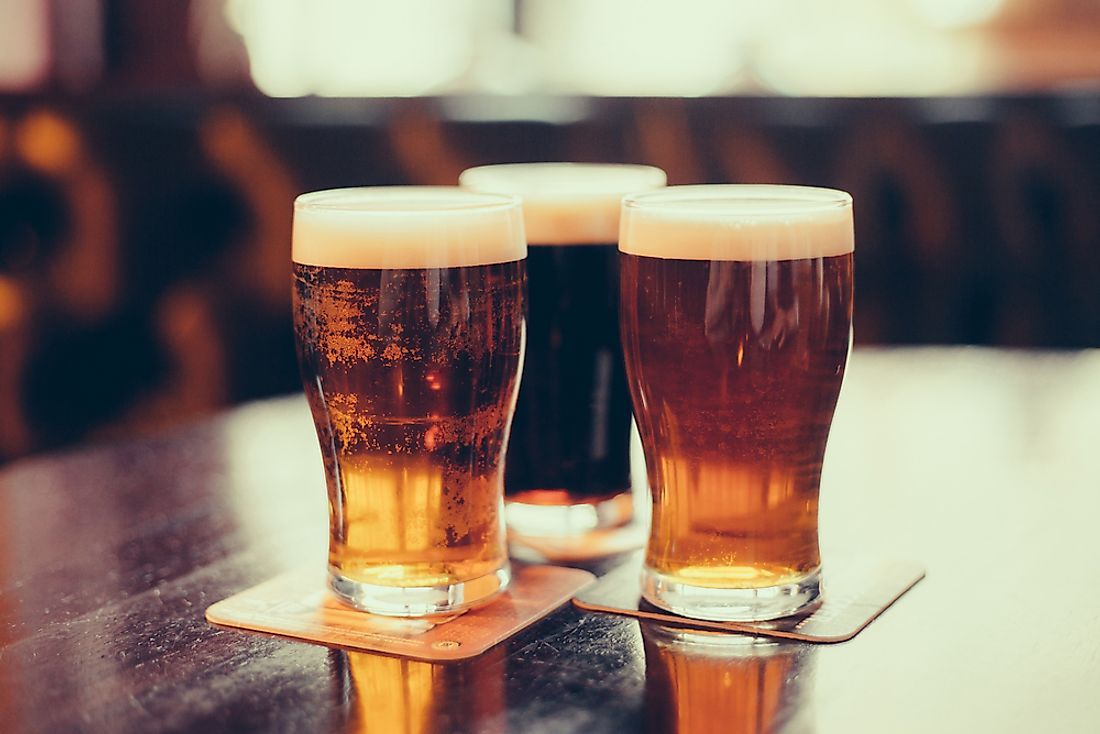 Beer is the fourth most popular beverage in the world.