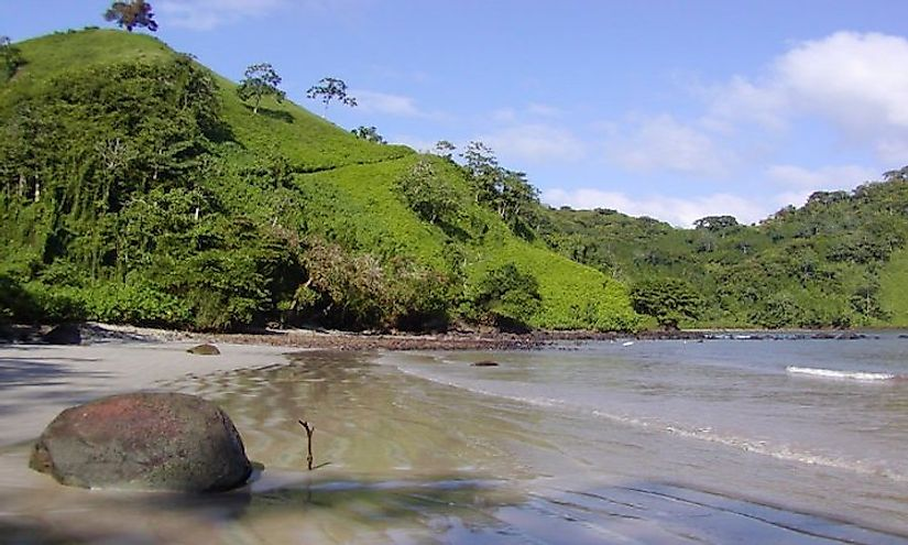 A beach in the Cocos Island National Park, a UNESCO World Heritage Site In Costa Rica.