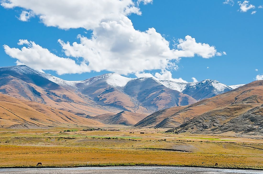 The Tibetan Plateau is the world's largest.