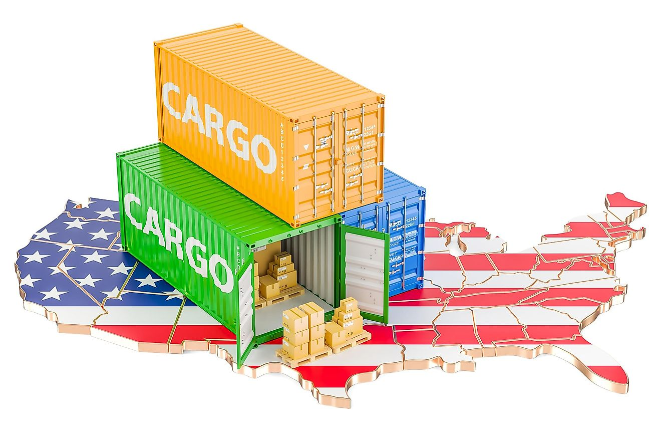 The United States imports many things, including food, and has several major trade partners.