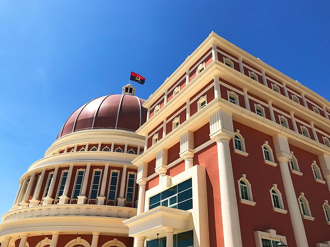 The parliament building of Angola. Editorial credit: rosn123 / Shutterstock.com.