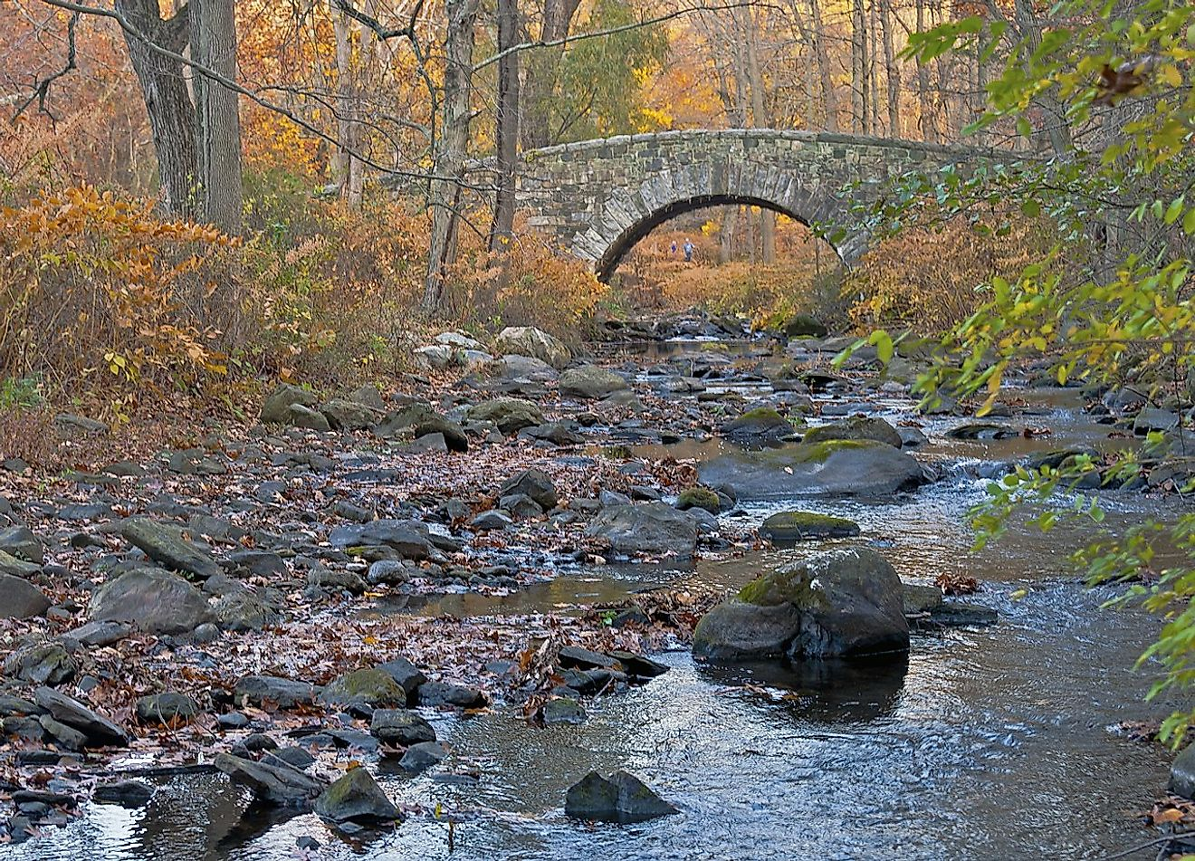 Stone arch bridge over the Pocantico River in Rockefeller State Park Preserve, Sleepy Hollow, NY, USA. Image credit: Daniel Case/Wikimedia.org