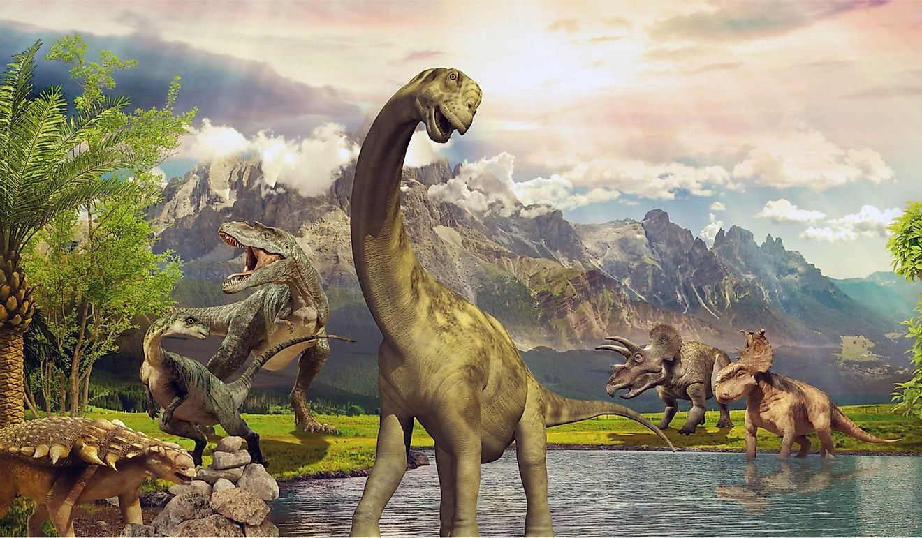 Dinosaurs walked the Earth during the Triassic era millions of years back.