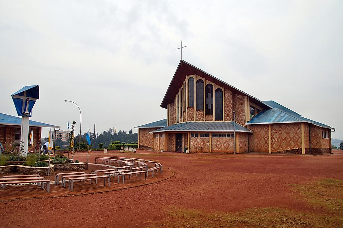 Catholic church in Rwanda.