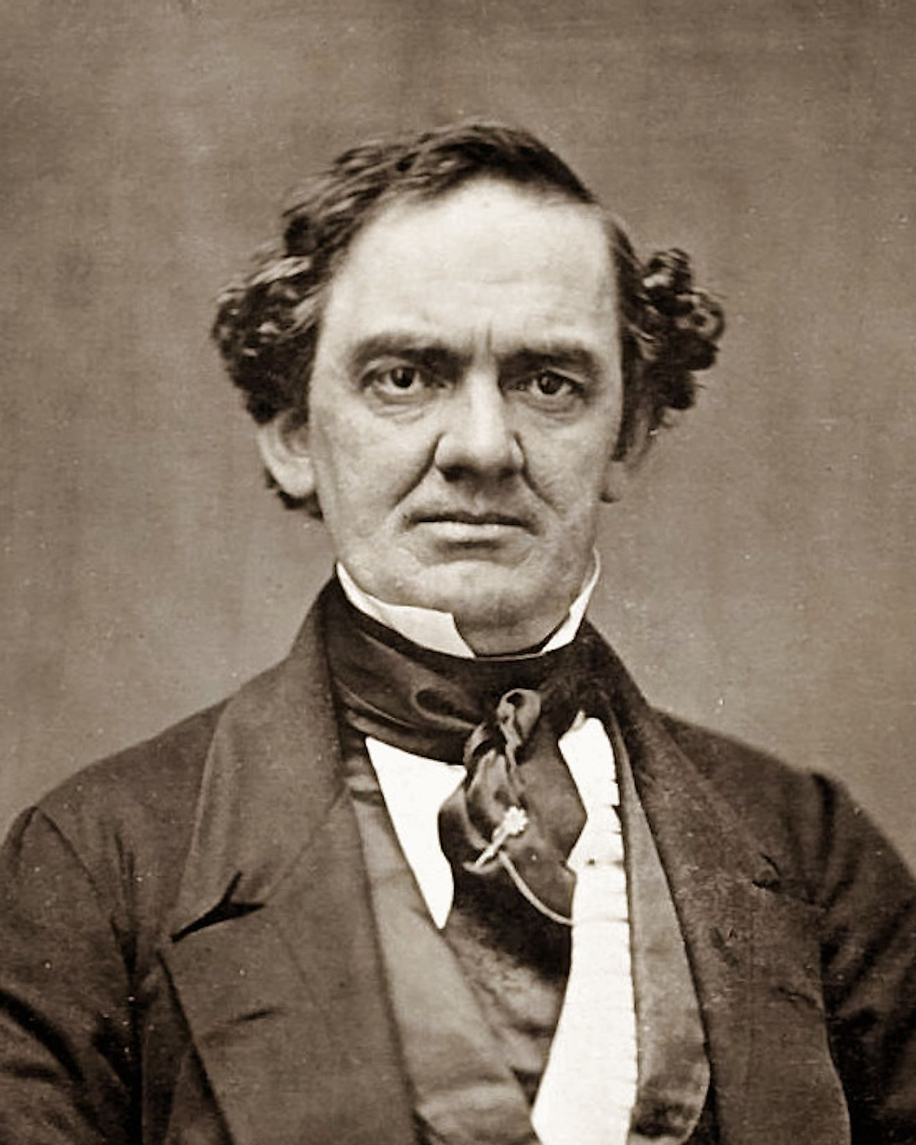 "Phineas Taylor ""P. T."" Barnum (July 5, 1810 – April 7, 1891)"