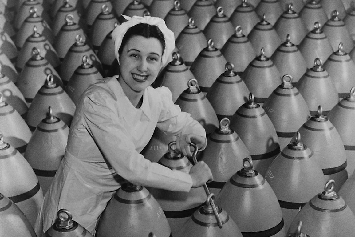 Canadian munitions worker during World War II.