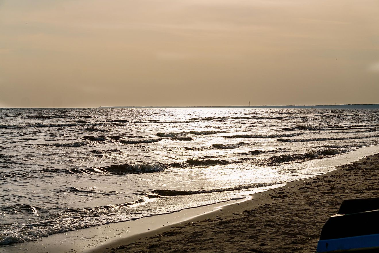 The Gulf of Riga.