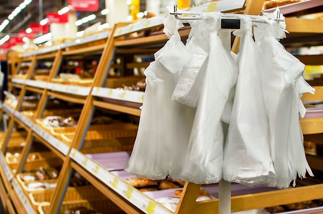 Many nations around the world are banning plastic bags commonly used in stores.