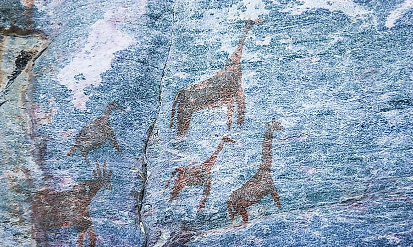 Rock art animals.