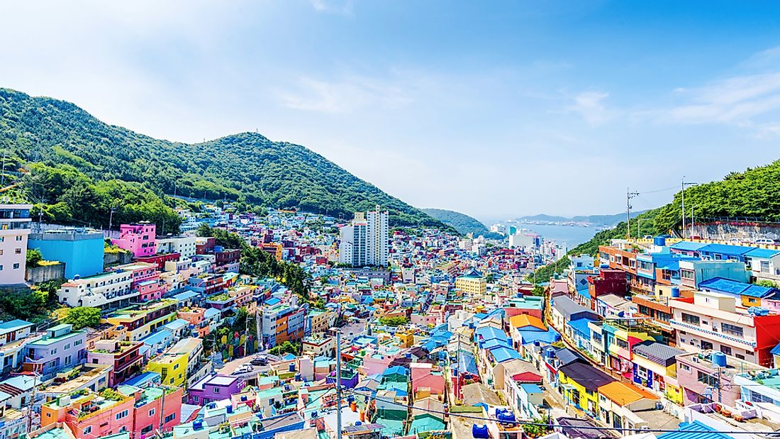 Gamcheon, an area of Busan, South Korea.
