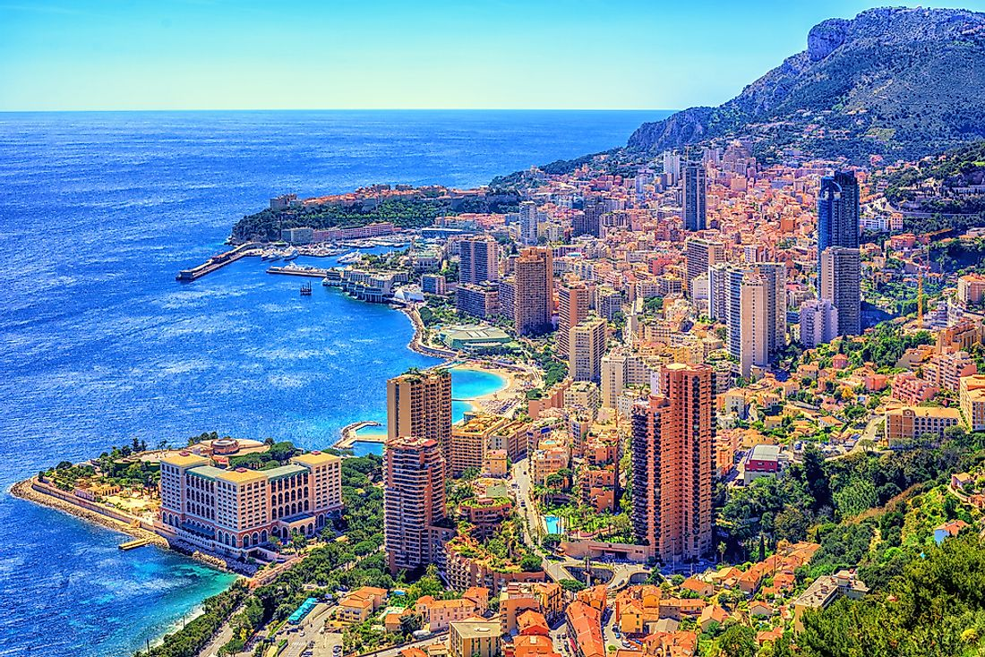 View of Monte Carlo in Monaco.