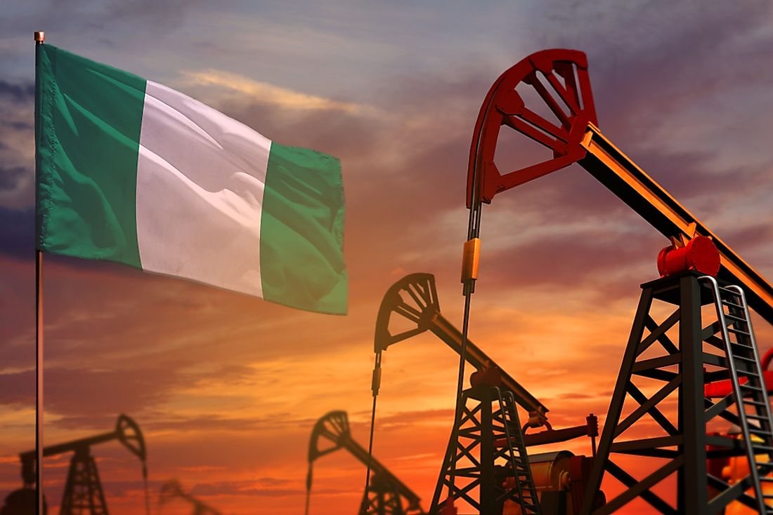 Nigeria relies heavily on petroleum products for export revenues.