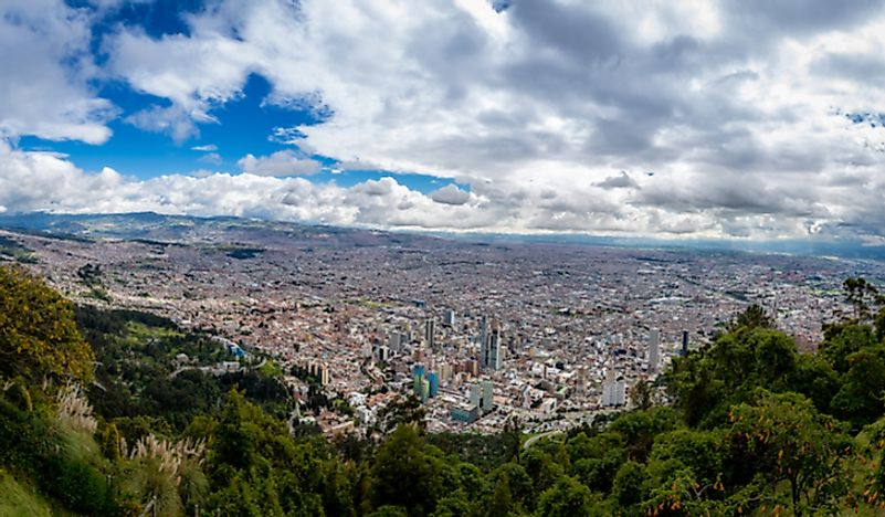 Bogota is the largest and the capital city of Colombia.